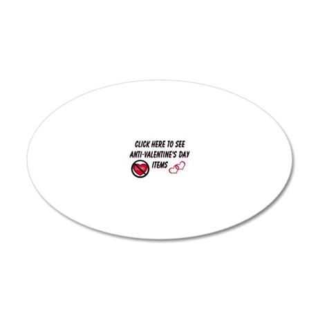 anti 20x12 Oval Wall Decal