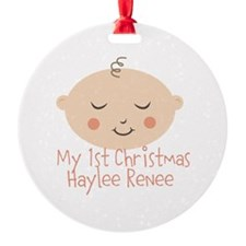 Personalize This 1st Christmas Ornament