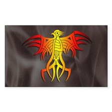 Tribal Phoenix Rectangle Decal