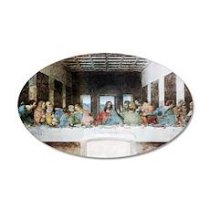 Leonardo_da_Vinci_(1452-1519 35x21 Oval Wall Decal