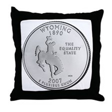 wyoming-black Throw Pillow