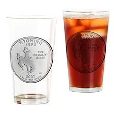 wyoming-black Drinking Glass
