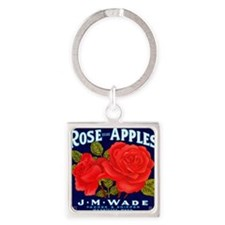 Rose Apples Wenatchee Washington Square Keychain
