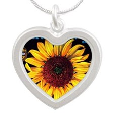 Orangedale Sunflower Brand Silver Heart Necklace
