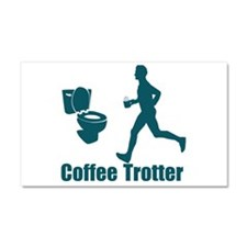 Coffee Trotter Car Magnet 20 x 12