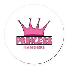 Custom Princess Round Car Magnet