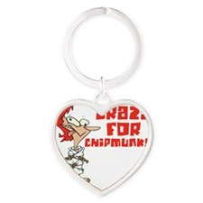 chipmunks Heart Keychain