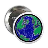"Earth 2.25"" Button (100 pack)"