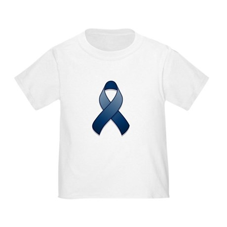 Dark Blue Awareness Ribbon Toddler T-Shirt