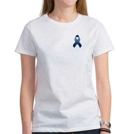 Dark Blue Awareness Ribbon Women's T-Shirt