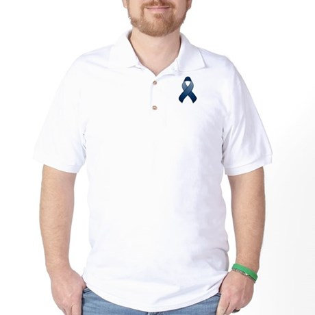 Dark Blue Awareness Ribbon Golf Shirt