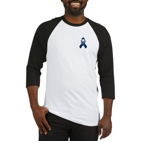 Dark Blue Awareness Ribbon Baseball Jersey