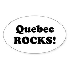 Quebec Rocks! Oval Decal
