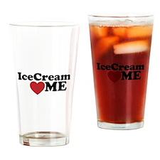 Ice Cream Loves Me Drinking Glass