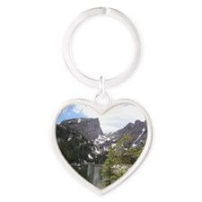 Dream Lake, Colorado Heart Keychain