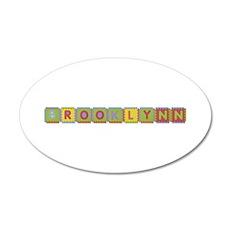 Brooklynn Foam Squares 35x21 Oval Wall Decal