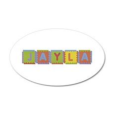Jayla Foam Squares 35x21 Oval Wall Decal