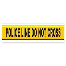 Police Line Do Not Cross Bumper Bumper Sticker