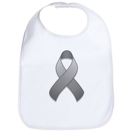 Gray Awareness Ribbon Bib