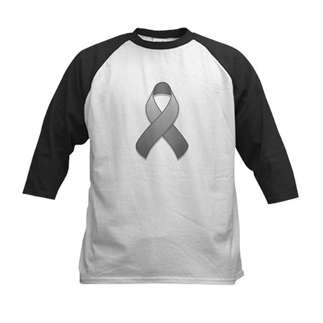 Gray Awareness Ribbon Kids Baseball Jersey
