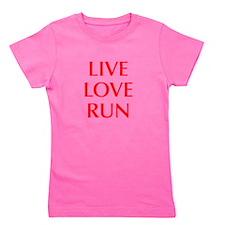 LIVE-LOVE-RUN-OPT-RED Girl's Tee