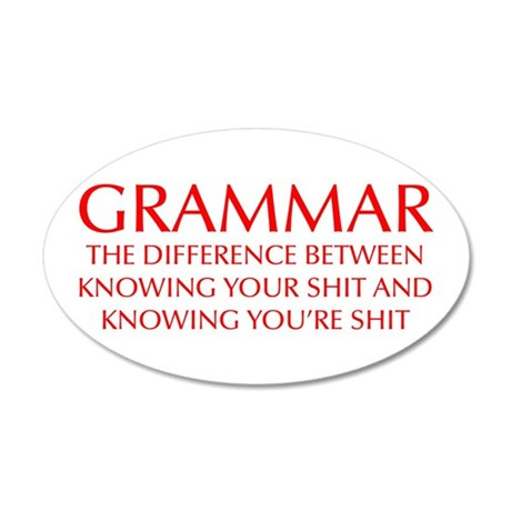 grammar-difference-OPT-RED Wall Decal