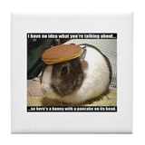 Bunny with Pancake Tile Coaster