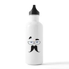 Funny Mustache Eyes Water Bottle