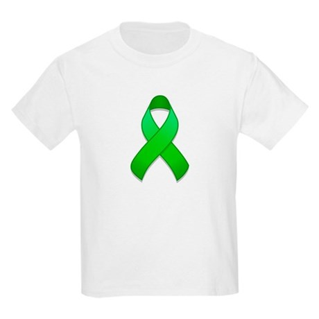 Green Awareness Ribbon Kids Light T-Shirt
