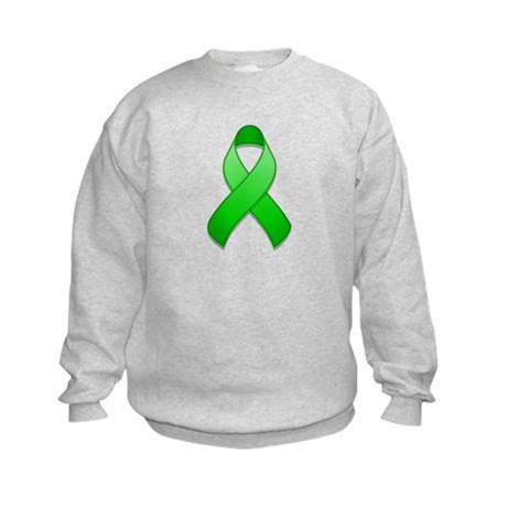 Green Awareness Ribbon Kids Sweatshirt