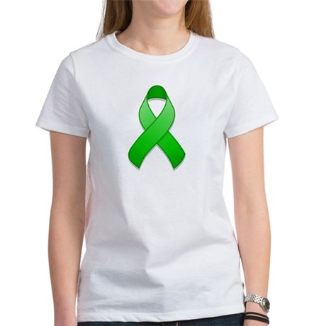Green Awareness Ribbon Women's T-Shirt