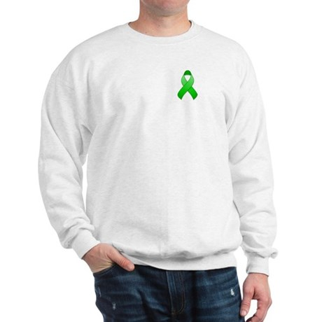 Green Awareness Ribbon Sweatshirt
