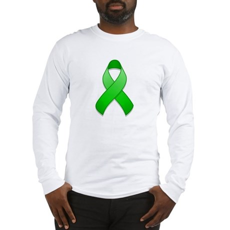 Green Awareness Ribbon Long Sleeve T-Shirt