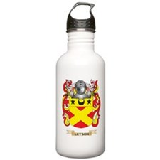 Letson Coat of Arms - Family Crest Water Bottle