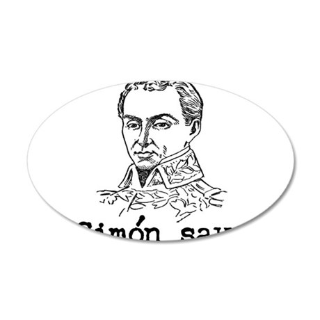 Simon Bolivar 20x12 Oval Wall Decal