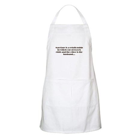 Marriage BBQ Apron