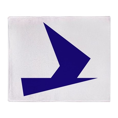 Abstract Blue Bird Throw Blanket