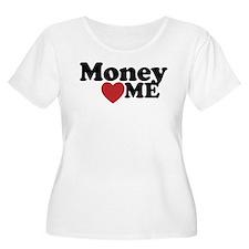 Money Loves Me Plus Size T-Shirt