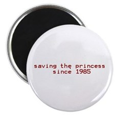 "saving the princess since 198 2.25"" Magnet (10 pac"