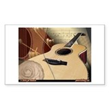 Guitar Art 6 Rectangle Decal