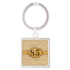 85th Birthday / Anniversary Square Keychain