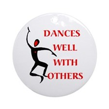 DANCES WELL Ornament (Round)