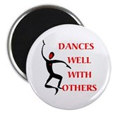 "DANCES WELL 2.25"" Magnet (100 pack)"