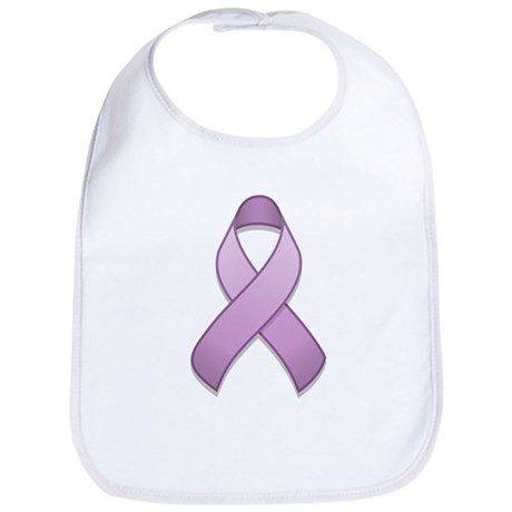 Lavender Awareness Ribbon Bib