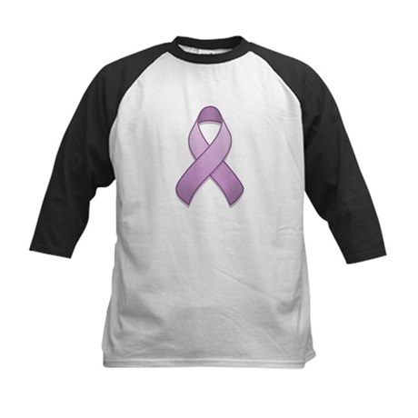 Lavender Awareness Ribbon Kids Baseball Jersey