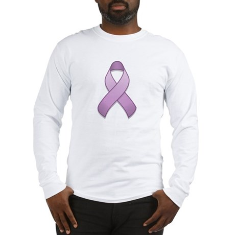 Lavender Awareness Ribbon Long Sleeve T-Shirt
