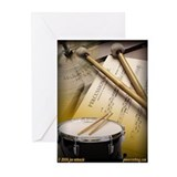 Drums Art 2 Greeting Cards (Pk of 10)