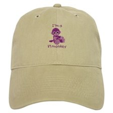 I'm a li'l monkey (purple) Baseball Cap