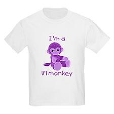 I'm a li'l monkey (purple) Kids T-Shirt