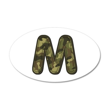 M Army 35x21 Oval Wall Decal
